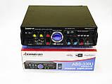 Усилитель звука Bosstron ABS-339U + USB + Fm + Mp3 + КАРАОКЕ, фото 2
