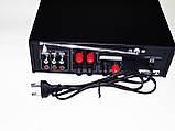 Усилитель звука Bosstron ABS-339U + USB + Fm + Mp3 + КАРАОКЕ, фото 4