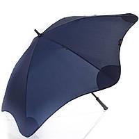 Противоштормовой зонт-трость мужской механический с большим куполом BLUNT (БЛАНТ) Bl-classic-navy-blue