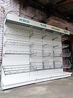 Торговый стеллаж (линия) б/у, овощной стеллаж б.у, фото 1