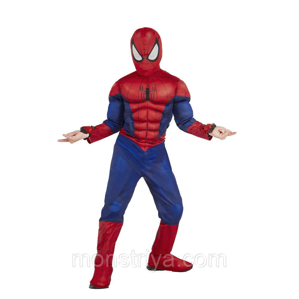 Делюкс Костюм Человек паук с мускулатурой и веб-шутерами Spider-Man