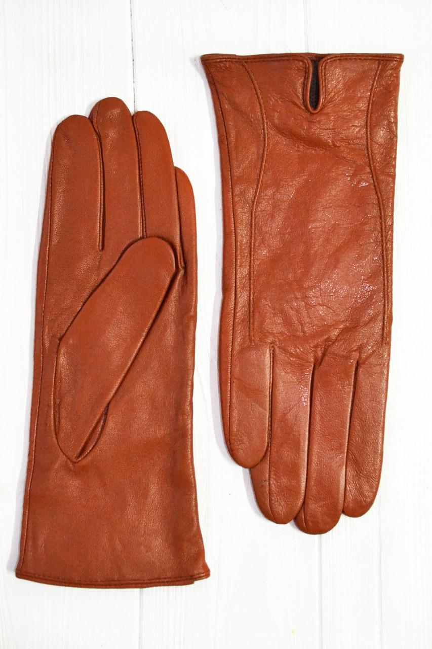 Женские цветные кожаные перчатки Маленькие