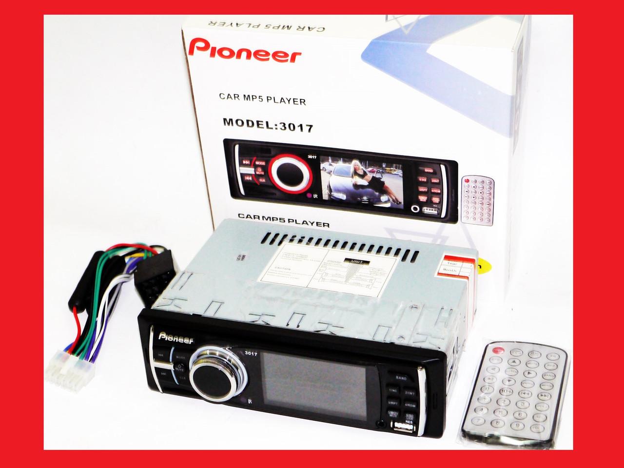 """Автомагнитола Pioneer 3017 - 3"""" Video экран -Divx/mp4/mp3 USB+SD"""