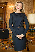 Деловое трикотажное темно-синее  платье 1925 Seventeen  46-52  размеры