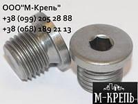 Заглушка нержавеющая М12 DIN 908 с буртом
