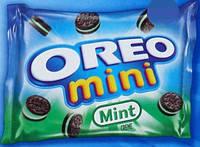 Oreo Chocolate Cookies, МЯТНОЕ Мини-печенье Орео - 28 грамм