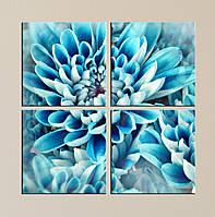 "Модульная картина ""Голубой цветок"""