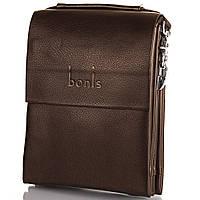 Мужская сумка через плечо из качественного кожезаменителя BONIS (БОНИС) SHIS8607-brown