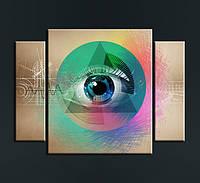 """Модульная картина """"Всевидящее око"""""""