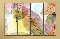 """Модульная картина """"Цветные листья"""""""