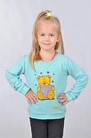 Модный детский батник с мишкой из качественного материала