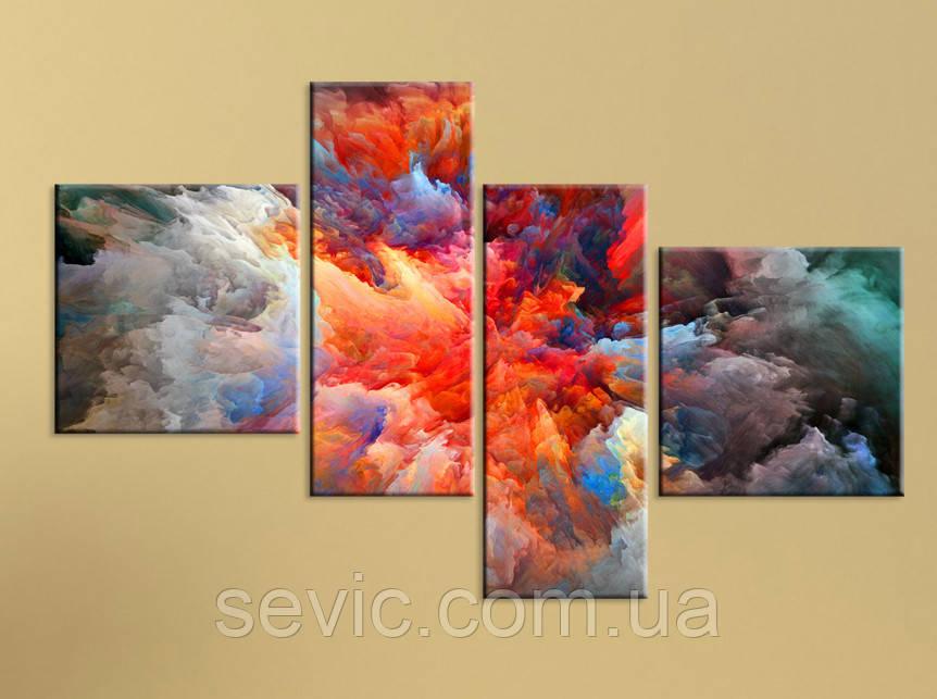 """Модульная картина """"Взрыв ярких красок"""""""