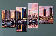 """Модульная картина """"Яхты, Сан-Диего"""""""