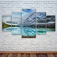 """Модульная картина """"Озеро в горах"""""""