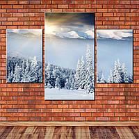 Модульная картина Восход в горах