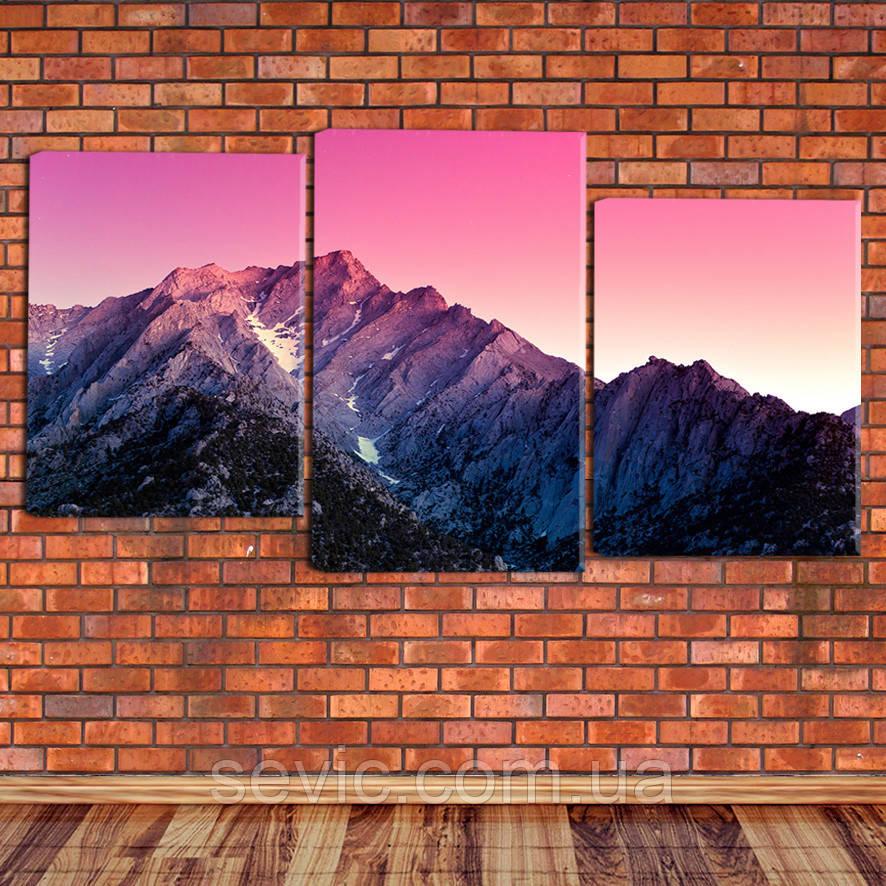 """Модульная картина """"Восход над горами"""""""