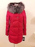 Куртка женская зимняя красная 16-156