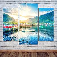 """Модульная картина """"Горы, Норвегия"""""""