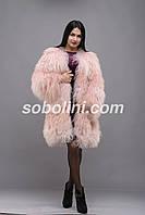 Полушубок из меха ламы розового цвета, фото 1
