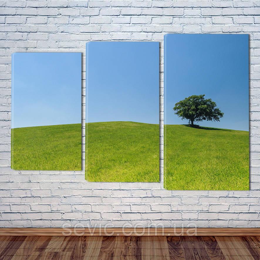 "Модульная картина ""Зеленые луга"""