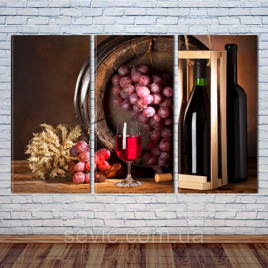 """Модульная картина """"Вино"""""""