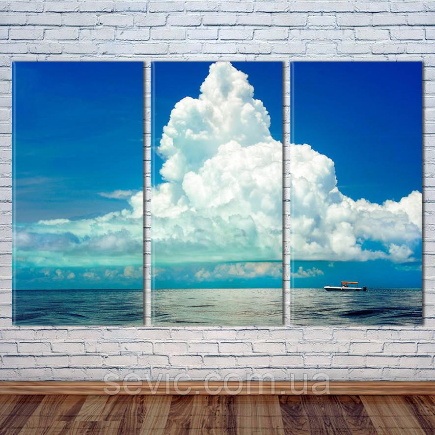 "Модульная картина ""Облака над океаном"""