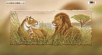 Схема для вышивки бисером на подрамнике Сафари-львы
