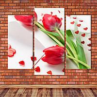 "Модульная картина ""Тюльпаны"""