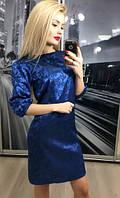 Платье атласное, элекрик