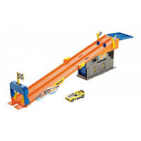 Hot Wheels Трек Подземный паркинг Team Hot Wheels Rooftop Race Garage Playset