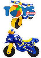 Мотоцикл-каталка для детей «Полиция», синий, 0139570