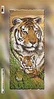 Схема для вышивки бисером на подрамнике Тигры