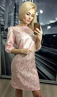 Платье атласное, розовое