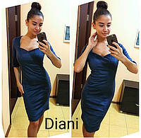 Красивое облегающее платье из замши 2 цвета SMdi816
