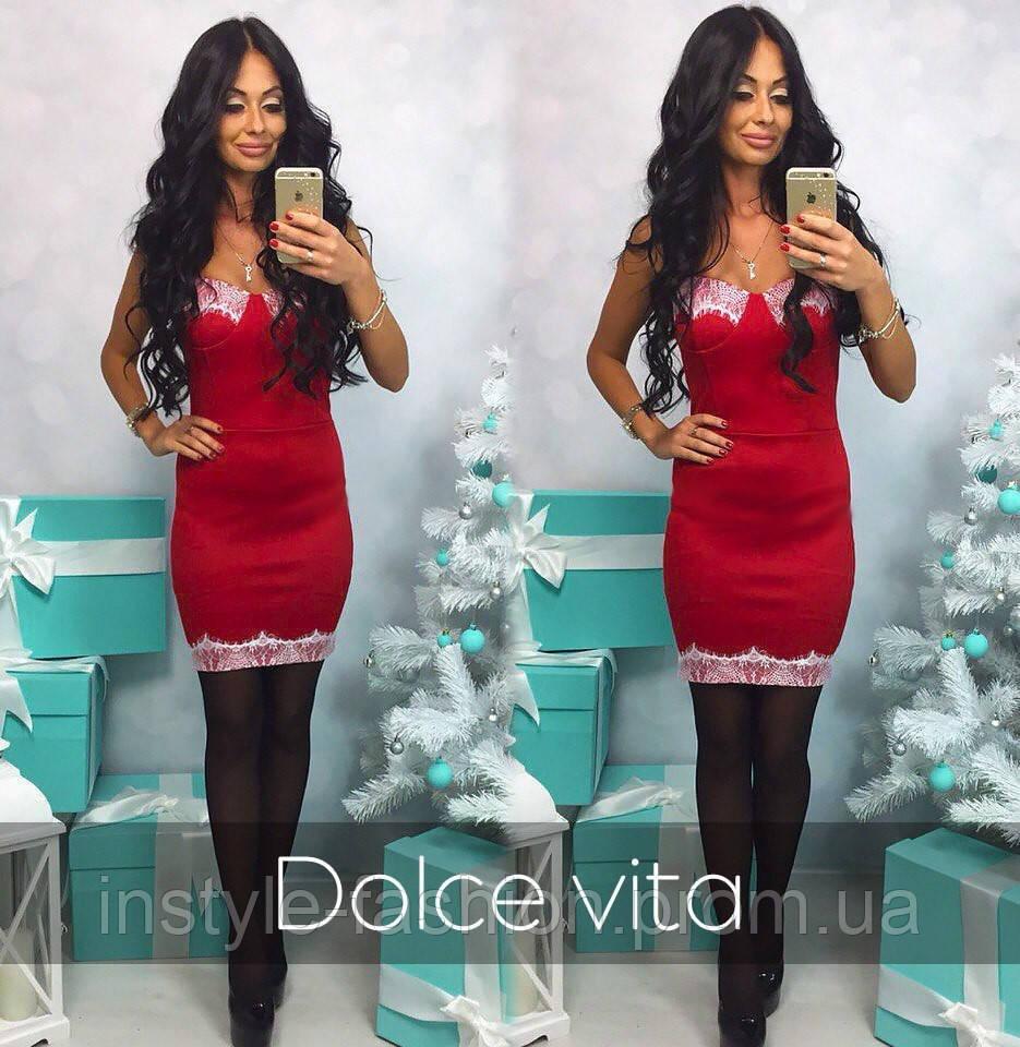 Женское красивое платье с чашками ткань дайвинг и французское кружево цвет  красный - Сумки брендовые, 3a8c87e0e81