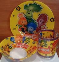 """Набор детской посуды"""" Любимые мультики"""" 3 предмета"""