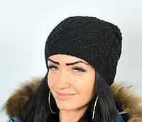 """Женские шапки. Шапка для женщин """"Самира"""" черный."""