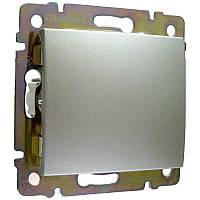 Выключатель 1-клавишный, алюминий - Legrand Valena   (Код: 770101 )