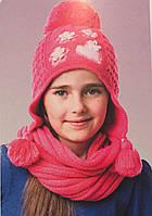 Подростковая вязаная шапка для девочки 0755