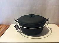 Посуда чугунная: чугунный казан 3л с дужкой для подвешивания «Ситон»