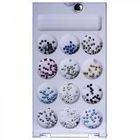 Стразы для ногтей Beauty sky №LQ-10 2 мм цветные