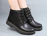 Ботинки Dr. Мartens зимние с мехом, цвет черный