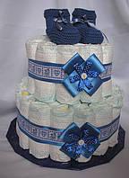 Торт из памперсов(подгузников) 2-х ярусный