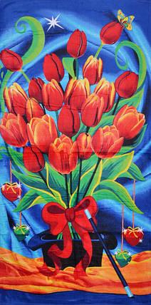 Полотенце пляжное с тюльпанами (V1061/25) | 6 шт., фото 2