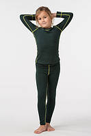 Комплект термобелья для девочки зелен.+беж.строчка