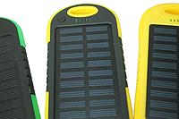 Power Bank (Solar) Переносной аккумулятор на солнечной батарее светодиод (5000 mah) Желто-Черный Поштучно
