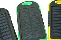 Power Bank (Solar) Переносной аккумулятор на солнечной батарее светодиод (5000 mah) Зелено-Черный Поштучно