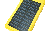 Power Bank (Solar) Переносной аккумулятор на солнечной батарее светодиод (5000 mah) Желтый Поштучно