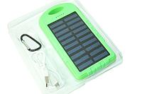 Power Bank (Solar) Переносной аккумулятор на солнечной батарее светодиод (5000 mah) Салатовый Поштучно