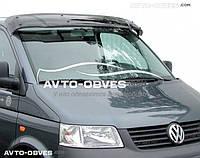Козырек ветрового стекла солнцезащитный для VolksWagen T5 2003-2010 (установка на кронштейны)